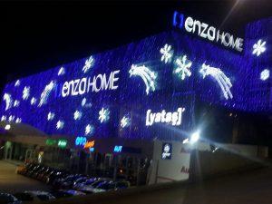 BİNA IŞIK SÜSLEME, Ankara bina ışık süsleme, Binanın tamamının led ışıklarla kaplayarak yılbaşı özel LED ışık süslemesi gerçekleştirdik.